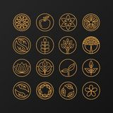 Vector abstract emblem - nature symbols Stock Photos