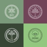 Vector abstract emblem - outline monogram Royalty Free Stock Image