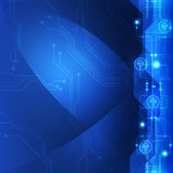Vector abstract engineering future technology, electric background Stock Image