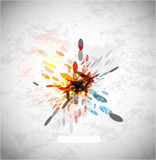 Vector abstract explosion background Royalty Free Stock Photo