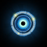 Vector abstract eye technology concept background Royalty Free Stock Photos