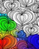 Vector abstract fantasy pattern hand drawn ornaments Royalty Free Stock Photography