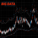 Vector abstract financial big data graph visualization. Stock index infographics aesthetic design. Visual information Royalty Free Stock Photography