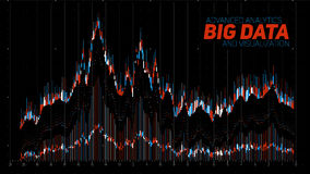 Vector abstract financial big data graph visualization. Stock index infographics aesthetic design. Visual information Stock Image