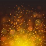Vector abstract fire bokeh background. Vector fire-like bokeh abstraction background. Dark yellow palette defocused illustration Royalty Free Stock Images