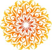 Vector abstract fire mandala Royalty Free Stock Images