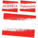 Vector abstract flag of Austria Royalty Free Stock Photo