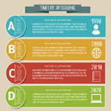 Vector abstract flat Timeline Infographic Royalty Free Stock Image