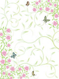 Vector abstract floral background. Vector abstract floral pattern on white background vector illustration