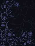 Vector abstract floral background. Vector abstract floral pattern on blue background Royalty Free Stock Photo