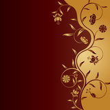 Vector abstract floral background. Vector abstract floral pattern on red background Stock Photos