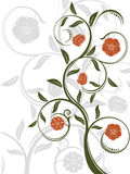 Vector abstract floral background. Vector abstract floral pattern on white background Royalty Free Stock Image