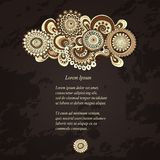 Vector abstract floral decorative background. Stock Photography