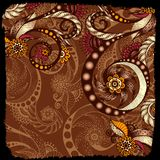 Vector abstract floral decorative background. Royalty Free Stock Image