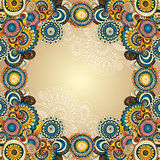 Vector abstract floral decorative background. Royalty Free Stock Photo