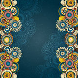Vector abstract floral decorative background. vector illustration