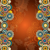 Vector abstract floral decorative background. Stock Image