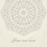 Vector abstract floral henna Indian Mehndi card Stock Image