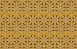 Vector Abstract Floral Pattern On Deep Chrome Yellow Background. royalty free illustration