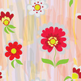Vector abstract floral seamless pattern Royalty Free Stock Photography