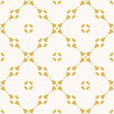 Vector abstract floral seamless pattern. Yellow and white geometric ornament. Elegant abstract floral seamless pattern. Yellow and white geometric ornament stock illustration