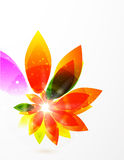Vector abstract flower background Royalty Free Stock Photos