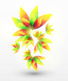 Vector abstract flower background. Vector illustration Stock Photography