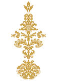 Vector abstract flower gold element design  Royalty Free Stock Photography