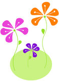 Vector abstract flowers. Bright colors floral design vector Stock Photos