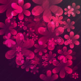 Vector abstract flowers Royalty Free Stock Image