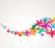 Vector Abstract flowers Stock Photos