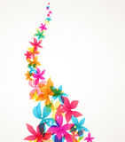 Vector Abstract flowers Royalty Free Stock Photo