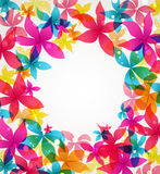 Vector Abstract flowers Stock Images