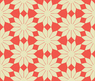 Vector abstract flowers seamless pattern Royalty Free Stock Photography