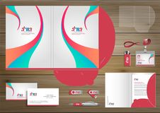 Folder Template design for digital technology company. Element of stationery, people community friends presentation design used fo. Vector abstract Folder Stock Images