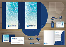 Vector abstract Folder Stationery presentation corporate identity template design, business Color promotional souvenirs elements. Link digital technology set vector illustration