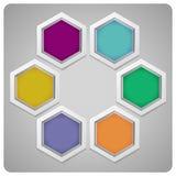 Vector abstract frame dat van zeshoeken wordt gemaakt Stock Fotografie