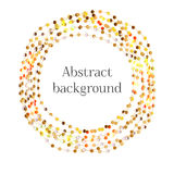 Vector abstract frame on the white background. The group of glowing circles. Background for bussines presentation. Red, golden, yellow, white beads on a string Royalty Free Stock Images