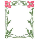 Vector abstract framework from the bound flowers Royalty Free Stock Images