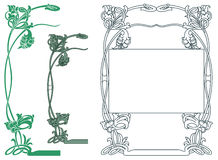 Vector abstract framework from the bound flowers and plants Stock Photos