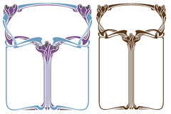 Vector abstract framework from the bound flowers and plants Stock Image