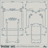 Vector abstract framework Stock Images