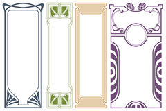 Vector abstract framework from the bound lines and flowers Royalty Free Stock Photo