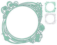 Vector abstract framework from the bound lines and flowers Royalty Free Stock Images
