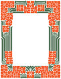 Vector abstract framework from the bound lines and flowers for decoration and design.  Stock Image