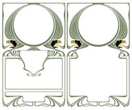 Vector abstract framework from the bound lines and head eagle Stock Photos