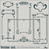 Vector abstract framework Royalty Free Stock Images