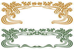 Vector abstract framework from the bound plants and flowers Royalty Free Stock Photography