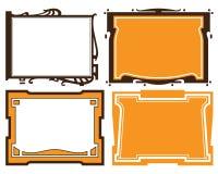 Vector abstract framework Royalty Free Stock Photos