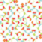 Vector abstract funky background. Seamless pattern. Royalty Free Stock Photos
